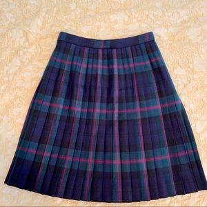 """Brooks Brothers """"346"""" Wool Plaid Pleated Skirt"""